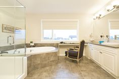 Ensuite Corner Bathtub, Alcove, Bathroom, House, Washroom, Corner Tub, Home, Haus, Bathrooms