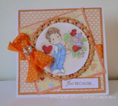 ***NEW LISTING*** - 19/02/14  OOAK Valentine Card  Just BeCAuse I Love You by IonaRose on Etsy, £3.75
