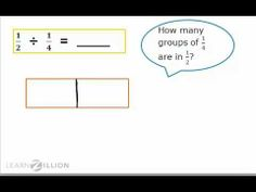 Divide fractions by fractions by using models - 6.NS.1 - YouTube
