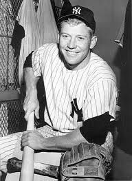 Mickey Mantle.. I want to frame a bunch of old Yankee pictures for joes office at the new house :)
