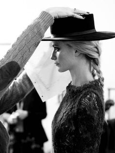Hat with braid