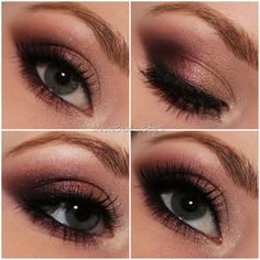 Burgundy & Gold eye shadow