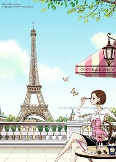 Paris Wallpaper, Sunset Wallpaper, Paris Illustration, Illustrations, Paris Cards, Torre Eiffel Paris, Paris In Spring, Image Mode, Paris Images