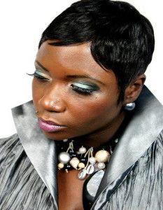 classy short hair style black women