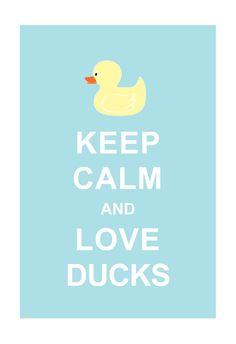 Large 13X19 Keep Calm and Love Ducks : Sky Blue Personalized custom Wedding Birthday Anniversary Gift Children Kids Home Decor. $15.80, via Etsy.
