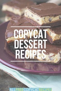 Copycat Dessert Recipes | Copycat cake recipes, pie recipes, cookie recipes, and more! These easy-to-make desserts are people-pleasers!