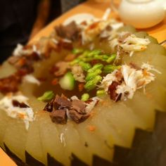 Winter melon soup with mixed meats