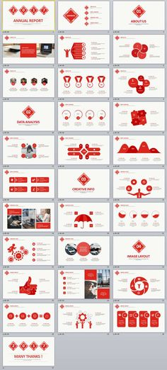 31+ Red infographic Business PowerPoint Template