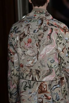 Valentino showed zoology animal prints with a mystical touch (spot the unicorn)