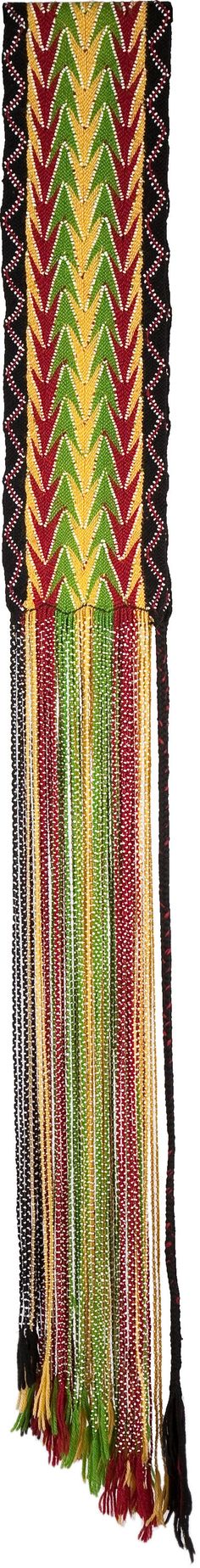 AN OSAGE BEADED WOOL YARN SASH. c. 1900. ... American Indian | Lot #50130 | Heritage Auctions