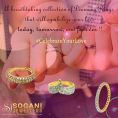 A breathtaking collection of diamond rings that will symbolize your love today, tomorrow and forever!! SHOP NOW : http://bit.ly/2jFRPui #CelebrateYourLove #ValentineDay #Gift #Jewellery #DiamondRings #SoganiJewellers