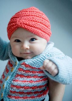 Look at this turban hat! Love the hat, but I'd have to repin the cutie even if I didn't! Does she need another granny?