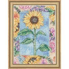 Cross Stitch Kit Sunflower by CrossStitchKitsOnly on Etsy, $9.00