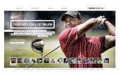 Nike Golf - PGA Championship by Abe Levin, via Behance Golf Pga, Golf Pride, Tiger Woods, Nike Golf, Lineup, Behance, Baseball Cards