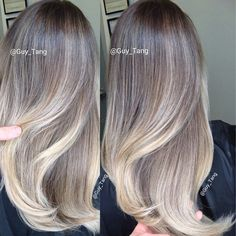 Ash blonde balayage ombre by Guy Tang