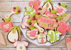 Apple Baby Shower Cookies