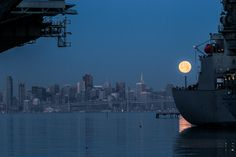 The USS Hornet became one of the most decorated ships in naval history.  The ship recovered Apollo 11 space capsule which contained the first men to walk on the moon.  The Hornet is reputed to be haunted.  We've gone to Memorial Day Events at the Hornet... and even heard the Glenn Miller Orchestra there  @HornetMuseum #Alameda #Moon #Museum Moon Museum, Memorial Day Events, Uss Hornet, The Glenn, Glenn Miller, Naval History, Apollo 11, Orchestra, San Francisco Skyline