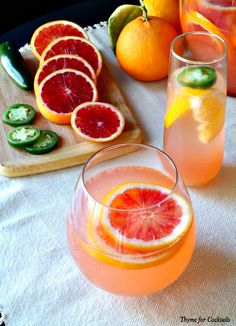 Jalapeño Blood Orange Sangria~ Thyme for Cocktails