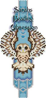 Tawny Owl Bracelet pattern by Sarah's Beading Obsession