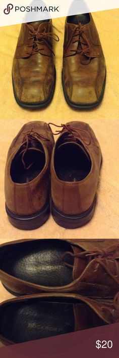 Men's RockPort Lace Up Shoes These are a great pair of vintage look lace shoes. Size 11, made by the RockPort brand. Brown shoes with a vintage retro look. Very comfortable. Rockport Shoes