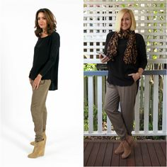 Looking for effortlessly chic mild winter fashion pieces? Surafina has your wardrobe needs covered. Mature Fashion, Winter Fashion, Capri Pants, Chic, My Style, Model, Outfits, Winter Fashion Looks, Capri Pants Outfits