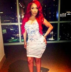 K Michelle Red Hair Bun ... about K.Michelle on Pinterest | Red hair, K michelle and Boy london