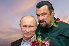 Vladimir Putin's Man Crush on Steven Seagal STEVEN SEAGAL IS A WIFE BEATER LIKE PUTIN