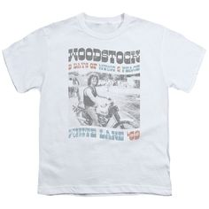 WOODSTOCK/RIDER-S/S YOUTH 18/1-WHITE