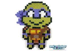 Donatello - TMNT Teenage Mutant Ninja Turtles Perler by GeekMythologyCrafts