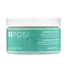 FC5 Exfoliating Body Scrub    Exfoliates, gently foams, and polishes skin leaving it smooth, fresh, and visibly hydrated.