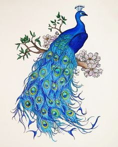 40 Easy Peacock Painting Ideas which are Useful - Bored Art Peacock Artwork, Peacock Drawing, Peacock Painting, Peacock Decor, Fabric Painting, Peacock Colors, Watercolor Paintings For Beginners, Watercolor Art, Female Peacock