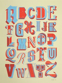 Drop Cap Alphabet Poster in Typography // Font & Lettering