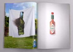20 Creative Tabasco Ads that you need to see. Check out our favorite Tabasco ads at Ateriet - A Food Culture Website, visit for more great food content. Ads Creative, Creative Advertising, Print Advertising, Advertising Campaign, Creative Director, Marketing And Advertising, Creative Design, Advertising Ideas, Art Director