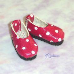 "Momoko 12"" Blythe Pullip 1/6 Obitsu Dollfie Doll Micro Step-in Dots Shoes Cherry | eBay"