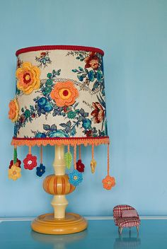When-in-doubt-add-a-flower-lamp by mo + me, via Flickr