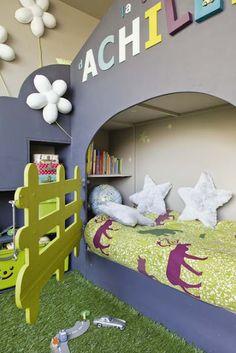 LOL like the idea of gates on beds hahaha & the fake grass!