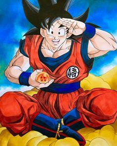 Goku by Taniidraw Goku 2, Son Goku, Akira, Dragon Ball Z, Ball Drawing, Avengers, Geek Stuff, Hero, Fan Art