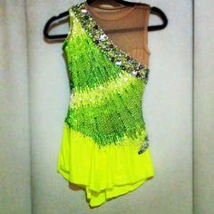 My last set of competitive dresses: Short Program - FRONT