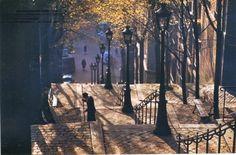 Ernst Haas. Montmartre Steps, Paris  https://mastersofphotography.wordpress.com/2014/08/04/ernst-haas-2/