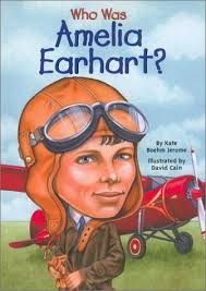 Who was Amelia Earhart? by Kate Boehm Jerome (Biography).  This is the biography of Amelia Earhart who was a pioneer female pilot.  She set flight records like being the first woman to fly across the Pacific and Atlantic Ocean.  Then on one daring flight, she disappeared and was never seen again.  I would use this book for 5th grade.  My lesson would be to have the student research Amelia Earhart and create a class mural about her accomplishments and her life.