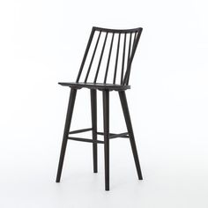 26ff554f7c56 Shop for Four Hands Furniture Lewis Windsor Bar Stool-Black Oak