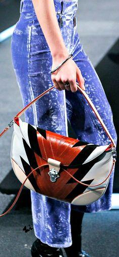 Louis Vuitton ~ Spring Leather Sandal Bag, White+Brown+Black 2015