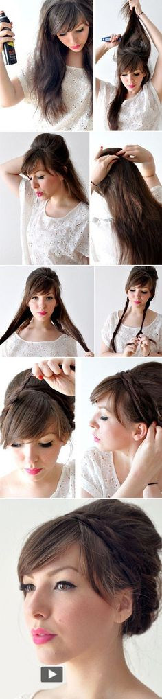 Hair for #prom that you can do yourself! Cute for a bohemian style :)