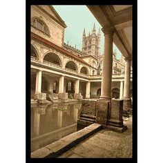 Buyenlarge 'Roman Baths and Abbey' by Detroit Photographic Company Photographic Print