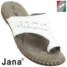 Jana női utcai bőr papucs 8-27108-20 100 fehér