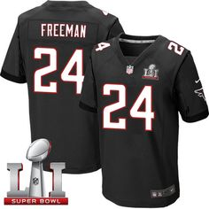 Nike Falcons #24 Devonta Freeman Black Alternate Super Bowl LI 51 Men's Stitched NFL Elite Jersey