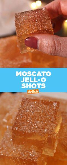 Moscato Jell-O Shots  - Delish.com