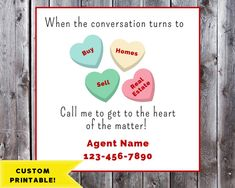 Real Estate Valentine Gift Labels Printable, Mailbox Candy Gift Tag, Real Estate Pop-By Gift Tag, Pop-by Tag, Custom Valentine Client Gifts, Gift Tags Printable, Gift Labels, Label Paper, Candy Gifts, Corporate Gifts, Real Estate Marketing, Valentine Gifts, Valentine Ideas