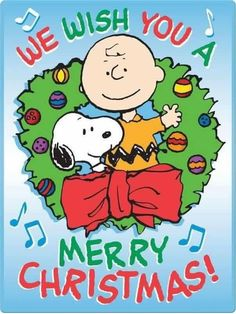 Merry Christmas from Snoopy and Charlie Brown by Rebecca Toney Wish You Merry Christmas, Christmas Quotes, Christmas Images, Vintage Christmas, Merry Xmas, Christmas Greetings, Charlie Brown Y Snoopy, Charlie Brown Christmas, Peanuts Cartoon