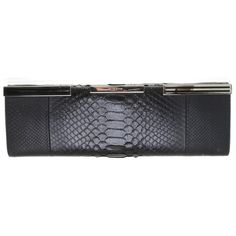 Pre-owned clutch snakeskin ($690) ❤ liked on Polyvore featuring bags, handbags, clutches, black, gucci handbags, fold over purse, preowned handbags, snake skin handbags and foldover clutches